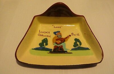 Royal Watcombe Torquay Pottery Lucky Cornish Pixie Design Butter Shovel - Looe