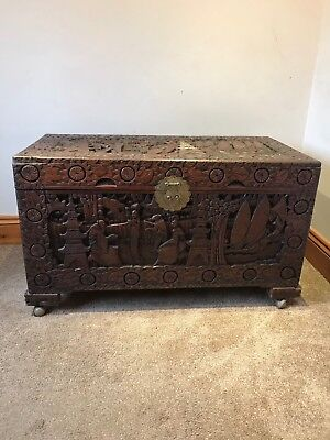 "Chinese Camphor Wood Chest, 41"" L, 24"" H, 20"" D"