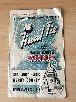 FA CUP FINAL PROGRAMME 1946 - CHARLTON ATHLETIC v DERBY COUNTY - ORIGINAL