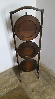 Antique Oak Wotnot stand with folding shelves