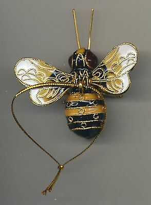 Kubla Enameled Bumblebee. Beautiful! Superb quality !! Cream & Black.