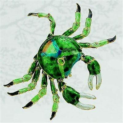Kubla Cloisonne Articulated green crab. Nice!! Ocean life.