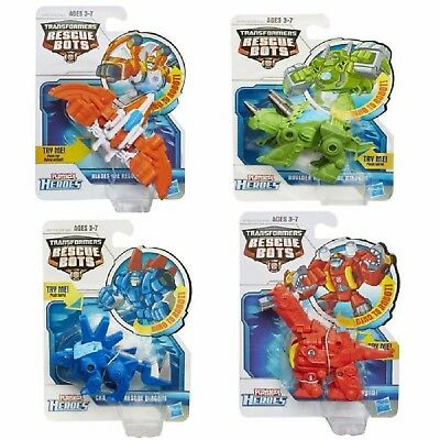 Playskool Transformers Rescue Bots Boulder Blades Chase Heatwave Ages 3 New Toy