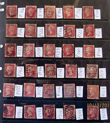 Great Britain Queen Victoria Stamps 1858-79