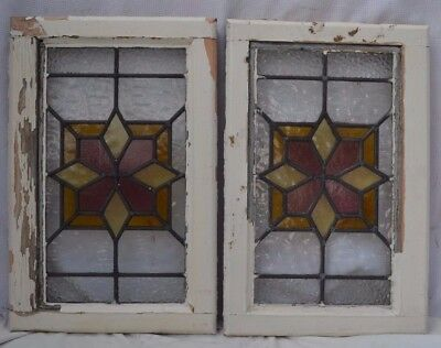 2 stained glass leaded light windows. R618b. DELIVERY OPTIONS & INSURANCE OPTION