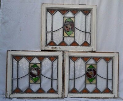 3 leaded light stained glass windows. R607c. DELIVERY OPTIONS & INSURANCE OPTION