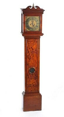 London 17th Century Longcase Grandfather Clock Brass Dial Pike (Pigg?) Walnut