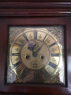 Early London Longcase Grandfather Clock 1674-1699 Brass Dial Robert Pike (Pigg?)