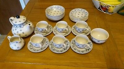 Laura Ashley Petite Fleur full Tea Set by Johnson Brothers