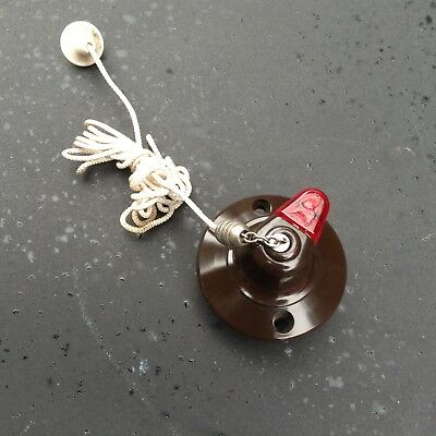 Vintage Bakelite Pull Switch