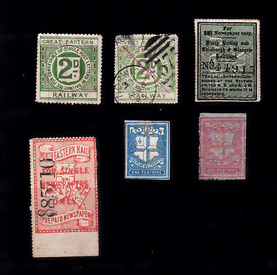 Great Britain Small Selection Early Railway Stamps