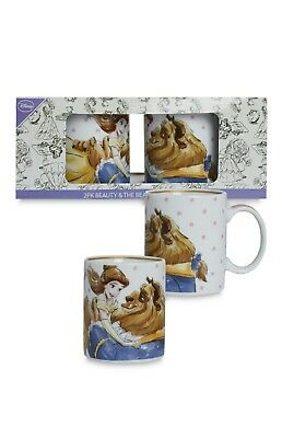 Primark Disney Beauty and the Beast 2 Pack Ceramic Mugs Cups Belle Rare