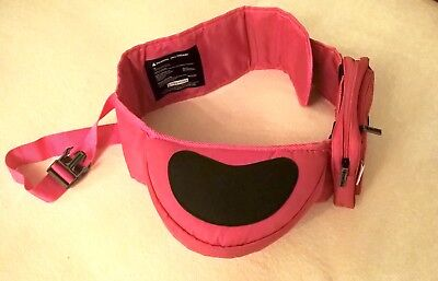 Hippychick pink hip seat baby carrying with anti-slip & matching purse