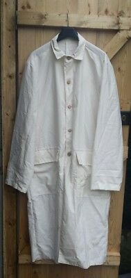 American Western white duster coat repro size large 44 western re enactment