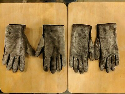 Lot of Authentic Seal Skin Seal Fur Gloves Men's and Woman's Matching Pair VHTF