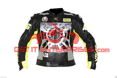 Valentino Rossi Motorbike Racing Leather Jacket BY GIE MOTO