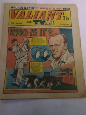 Valiant and TV21 1972 June 3rd. Good condition.
