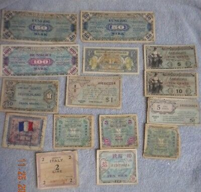 Military Certificate Money Usa, British German,france And More