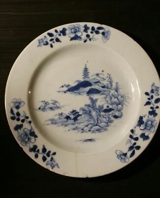 chinese blue and white plate Qing period