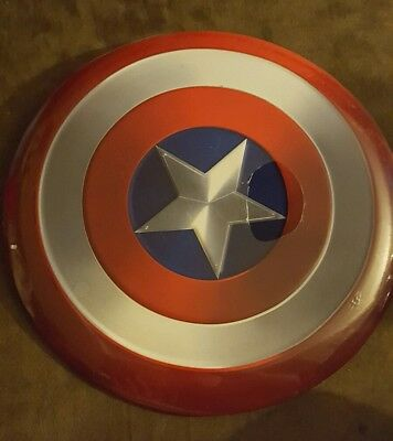 "Captain America Shield Wall Hanging Decoration Plaque 12"" Diameter All Metal NEW"