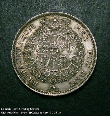 A/UNC 1817 Half Crown. Graded and encapsulated, CGS75.(MS62-63) Unreferenced.