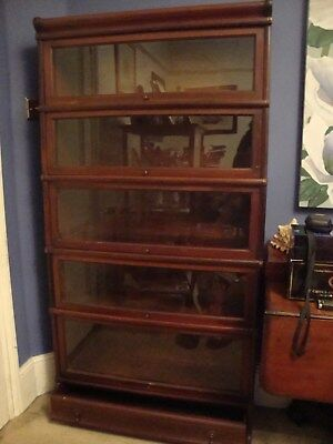Beautiful Mahogany Globe Wernicke Bookcase