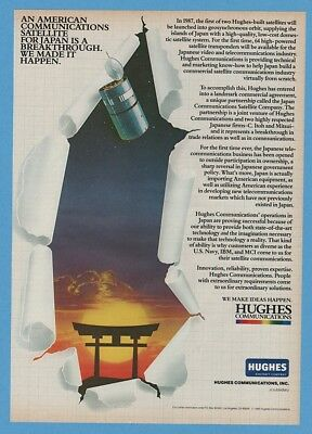 1985 Hughes American Satellite For Japan Ito Mitsui Communications Print Ad