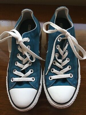 Women's Converse All Star Teal Green Athletic Sneaker Shoes Size 9