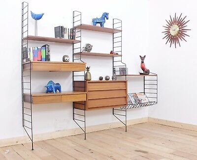 Retro String Shelving System, Ladderax style Free Delivery within 150 miles.