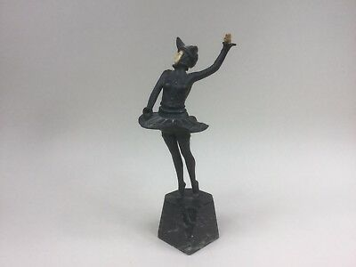 French Art Deco Bronze of a Lady Dancing