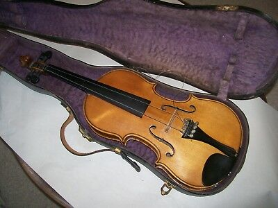 Antique violin 4/4 w/nice flame unmarked