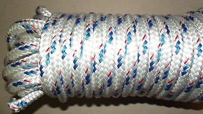 """1/2"""" (12mm) x 94' Double Braid Polyester Sail/Halyard Line, Jibsheets, Boat Rope"""