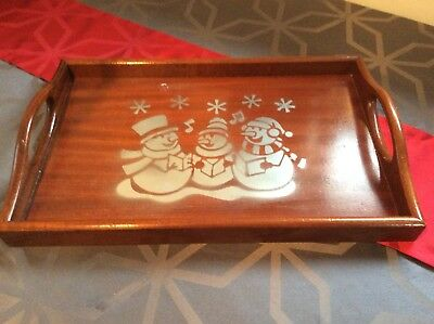 Wooden  Butlers Serving Tray ,Tea Coffee Cafe