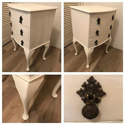 Vintage French Style  Shabby Chic 3 Drawer Chest. Bedside Drawers