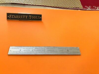 """STARRETT No.C604RE  6"""" Long Spring-Tempered Steel Rule With 4R & End Graduation."""