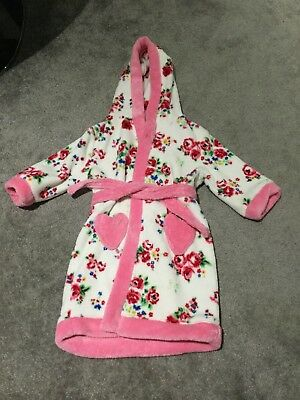 Girls Mini Club 12-18 month Floral Dressing Gown