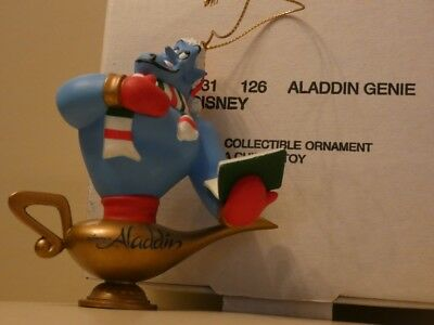Grolier Collectable Disney Christmas Ornament - ALADDIN GENIE - Boxed