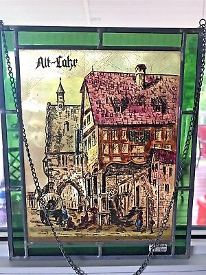 Stained Glass Art Leaded German Stained Glass Rare Vintage