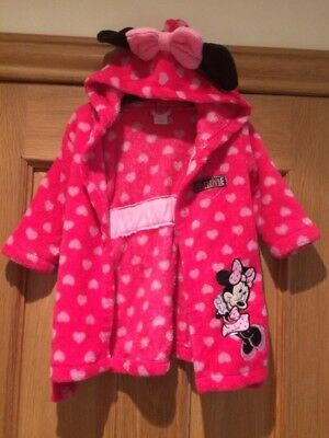 Minnie Mouse Girls Dressing Gown Age 6-9 Months