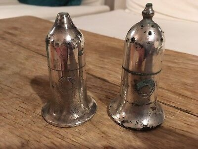 Vintage Silver-plate Salt And Pepper Pots from St Thomas' Hospital