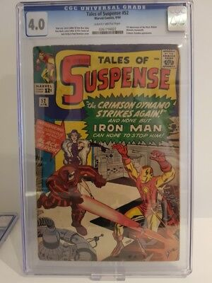 Tales Of Suspense #52 1964 Cgc Universal 4.0 1St Appearance Of The Black Widow