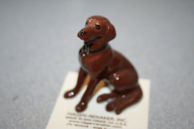 Hagen Renaker Dog Chocolate Lab Figurine Miniature Gift New Free Shipping 08883
