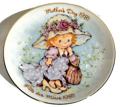 "Vintage AVON Mother's Day 1981 Collectable Porcelain 5"" Plate Made in Japan EUC"