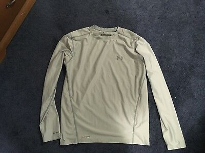 Men's Large Under Armour White Coldgear Long Sleeved Shirt