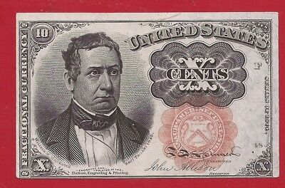 1874-1876 5th Issue 10¢ Fractional Currency,Meredith,Fr 1266,crisp XF,Nice!