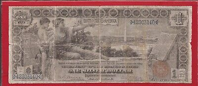 1896 $1 Educational Note Silver Certificate,FR 225,Small Red Seal,VG/F,Nice!