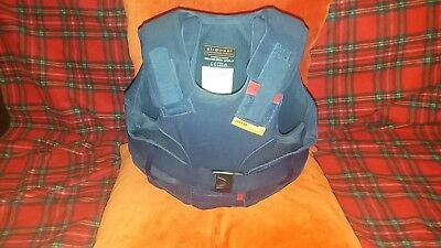 Childrens equestrian body protector by Airowear.  Extra small. Dark blue