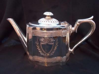 aANTIQUE ENGLISH MADE SILVER TEAPOT AESTHETIC STYLE J DIXON IN LOVELY CONDITION