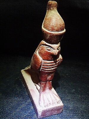 ANCIENT EGYPTIAN ANTIQUE Horus Falcon Lord of the 2 Lands Sculpture 1570–1200 BC