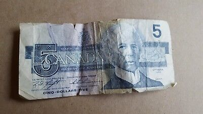 canada currency 5 dollars p826
